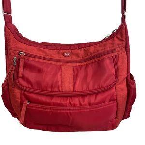 Lug bag Hula Hoop Carry-All Messenger Bag, Red